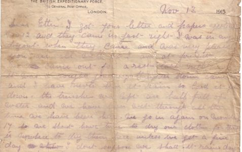 Letters from the trenches, 1915-1916