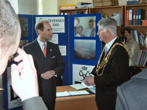 HRH Earl of Wessex and Councillor Garry Peltzer Dunn | Photograph by Robert Robertson