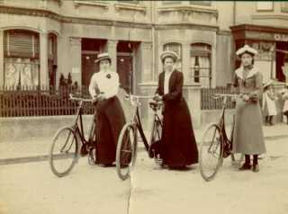Three lady cyclists | From the private collection of Marion Goodwin