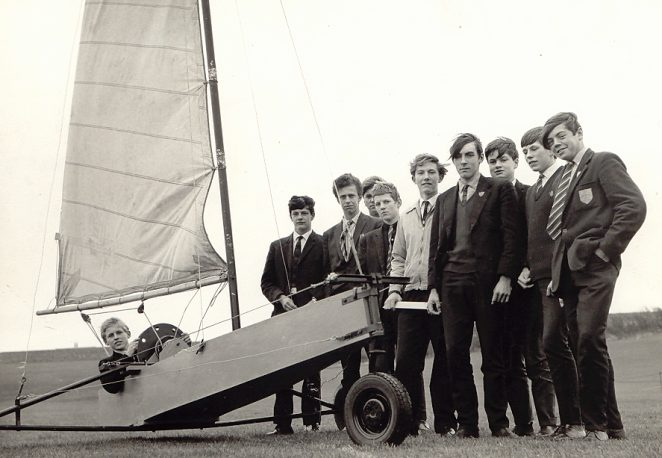 Reading from left to right) Mike Walder,  Chris Kane, Longs, Ted at the back, Rupert Carder, (Chris or possibly Keith) Vynall, Dave Allen, Trevor (Rocky) Rockliffe, Keith Cronin, Me (Aff) | From the private collection of Arthur David