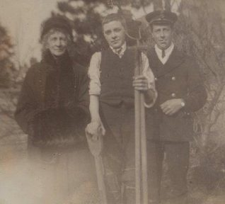 Mother, Wilf and George - 1918 | From Lorna Vyse's album kindly loaned by John Ricks