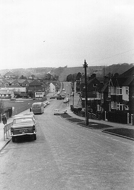 Ladies Mile Road looking west c.1960. | Photo sent by Martin Nimmo 25-01-03