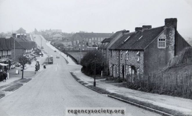 Ladies Mile Road photograped in 1956 | Image reproduced with kind permission of The Regency Society and The James Gray Collection