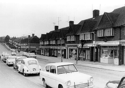 Ladies Mile Road shops c.1960. | Photo sent by Martin Nimmo 25-01-03