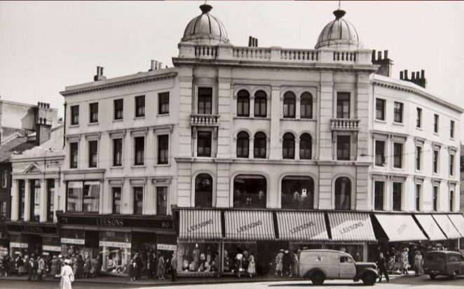 A view of what was then Leesons Store, at the top of North Street, during the summer of 1954, shortly before the business was sold, and the shops cleared. So ended a business that had lasted for almost a century. | Image reproduced with kind permission of The Regency Society and The James Gray Collection