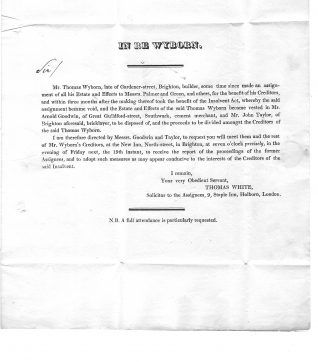 Solicitor's letter from 1826. Click to see full-size version. | From the private collection of Jan Hill