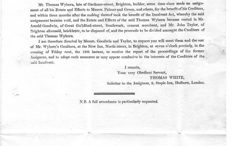 A solicitor's letter from 1826