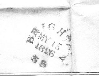 Close-up of date stamp | From the private collection of Jan Hill