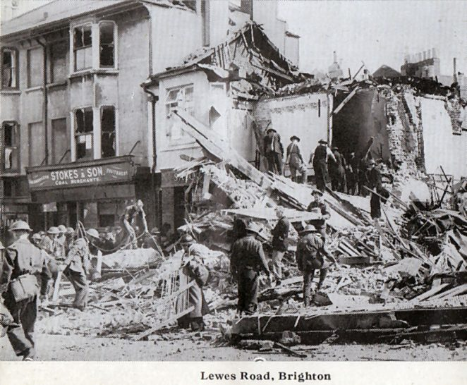 Lewes Road Inn after the bomb | From the private collection of Peter Groves