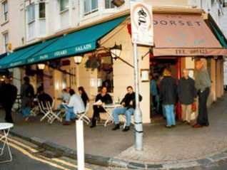 Outside the Dorset Arms, Brighton