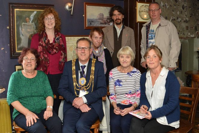 The Mayor of Brighton and Hove, Councillor Pete West with members of the drop in group | ©Tony Mould: all images copyrighted