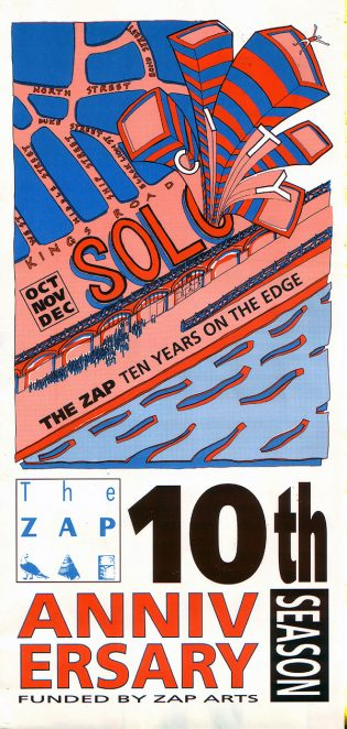 Zap tenth anniversary programme | Image from the Zap archive