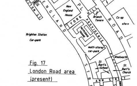 Map of the area after redevelopment
