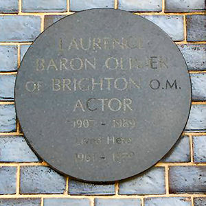 Lord Olivier's plaque | Photo by Tony Mould