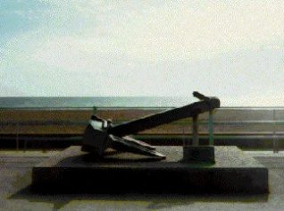 Anchor of Athina B, located east of Brighton Pier | From the private collection of Mike Stone