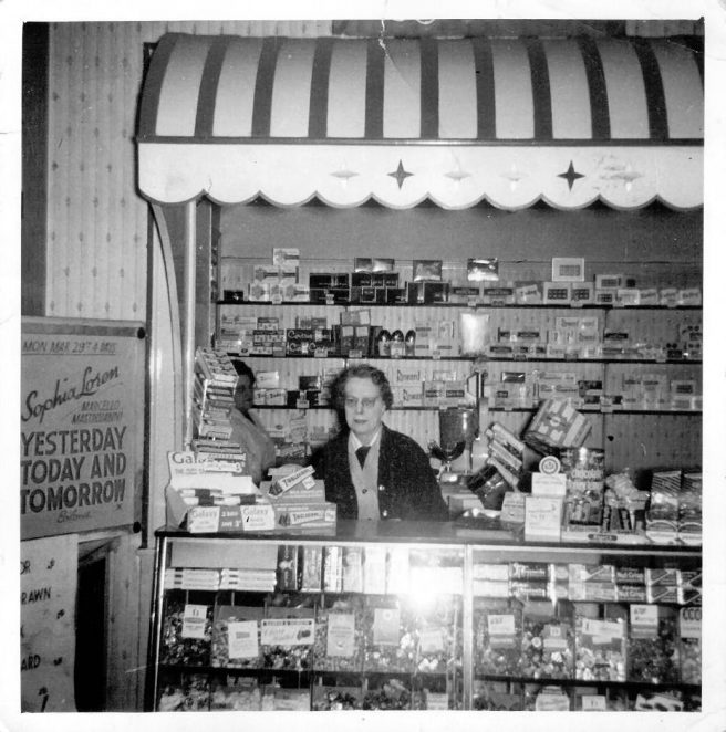 Aunt Mabel in the cinema kiosk c1963 | From the private collection of Terry Hyde