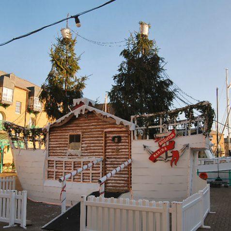 A Christmas cabin at Brighton Marina | Photo by Tony Mould