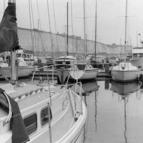 Brighton Marina early days | Photo by John Leach