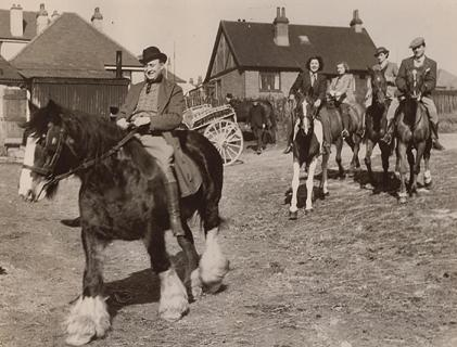 Max Miller on horseback | From the private collection of Gordon Dean