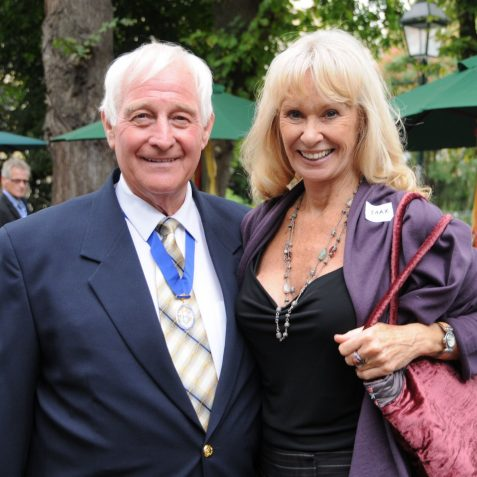 Councillor David Smith meets Carol Cleveland who provided the sex appeal for the Monty Python Show | Photo by Tony Mould
