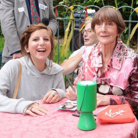 Naomi Sewell, whose father owns the Pavilion Cafe, meets June Brown, aka Dot Cotton from Eastenders