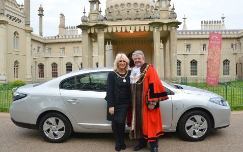 New Mayor and his new electric car
