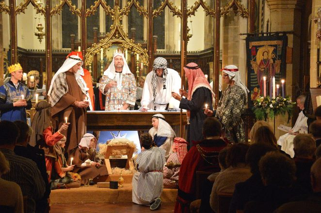 Nativity scene at St Nicholas' Church | Photo by Tony Mould