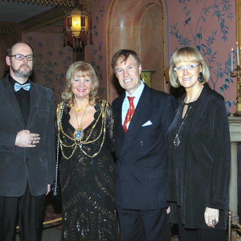 Tony Drury, Carol Theobald, Geoffrey Theobald and Jennifer Drury | Photo by Tony Mould