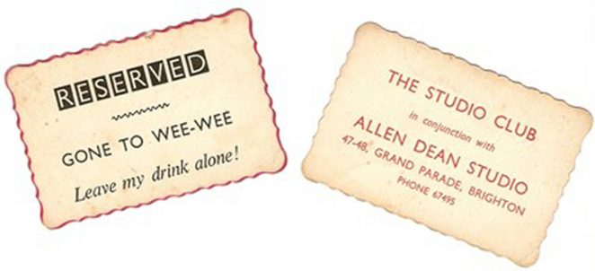 Studio Club cards   From the private collecion of Fred Hards