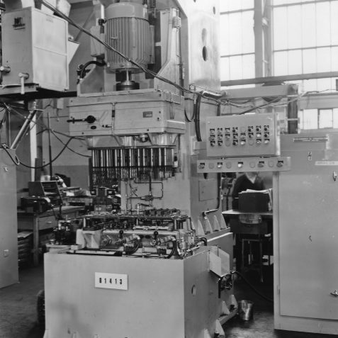 Unit Machine with Multi Spindle Cluster Box for Motor Assemblies South Africa, used to Machine Toyota Bearing Caps | From the private collection of Steve Hussey