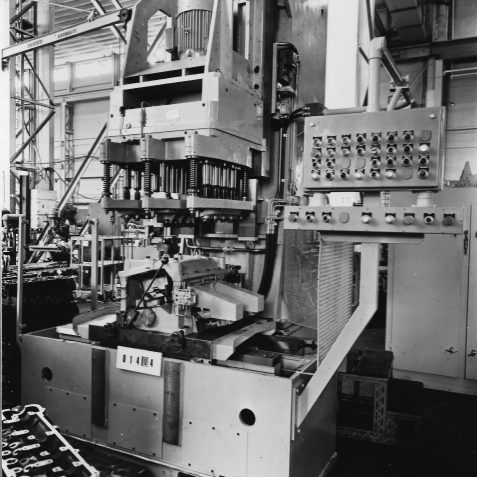 Unit Machine with Multi Spindle Cluster Box for Motor Assemblies South Africa, used to Machine Toyota Bearing Cap Monoblock | From the private collection of Steve Hussey