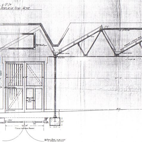 Munition Shop Plan Dec 1917   Photo copy of original plan held by Brighton & Hove Planning Dept.