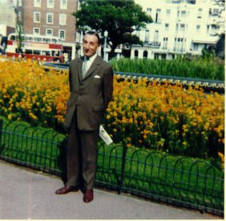 My Father in the Old Steine gardens | From the private collection of Maralyn Eden