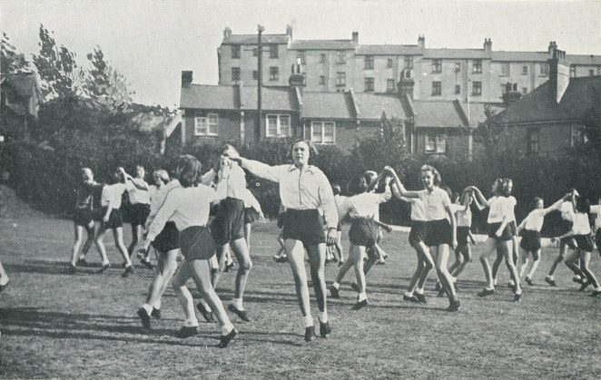 Seniors Folk Dancing somewhere in Brighton c. 1938 | From the Education Week booklet owned by Peter Groves
