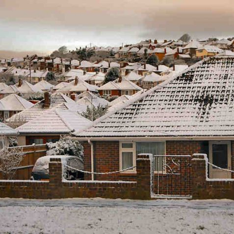 Snowy rooftops | Photo by Tony Mould