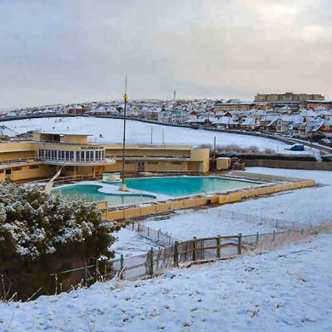 Unusual shot of Saltdean Lido | Photo by Tony Mould