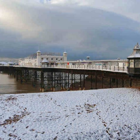 Not many people on the Palace Pier this morning | Photo by Tony Mould