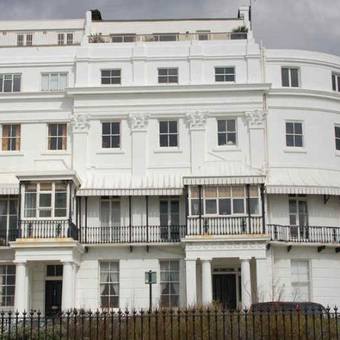 No 13 Arundel Terrace, adorned with large Corinthian columns   Photo by Tony Mould
