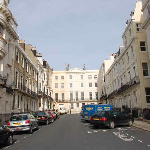 Belgrave Place, all the houses are listed.   Photo by Tony Mould