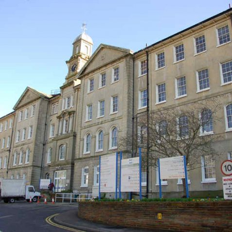 Front view of Brighton General Hospital | Photo by Tony Mould