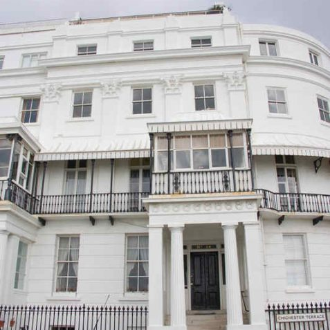 Corinthian pillars decorating No 14 Chichester Terrace   Photo by Tony Mould
