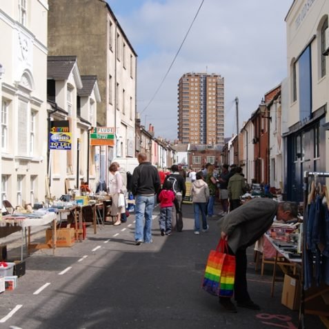 Upper Gardner Street Saturday morning market | Photo by Tony Mould