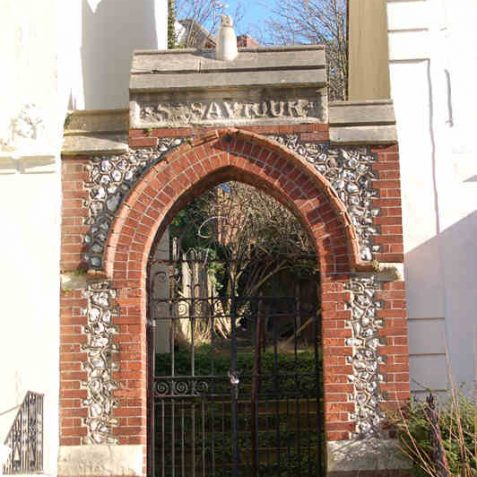 The only remains of St. Saviour's Church is an archway in Vere Road. | Photo by Tony Mould