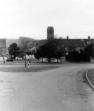 Clock Tower on Mackie Avenue, the beginning and end of Mackie Estate c.1960. | Photo sent by Martin Nimmo on 25-01-03