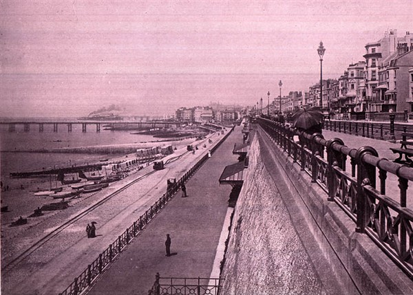 View of Madeira Drive | Scanned from an original copy of '67 Views of Brighton, Hove and Neighbourhood', circa 1910, by kind permission of David Burgess