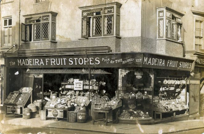 Madeira Fruit Stores late 1930s | From the private collection of Councillor Geoffrey Wells