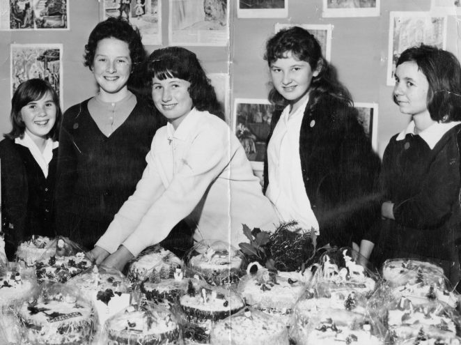 Christmas cake cookery class | From the private collection of Margaret Whitcomb (nee Lewsey)