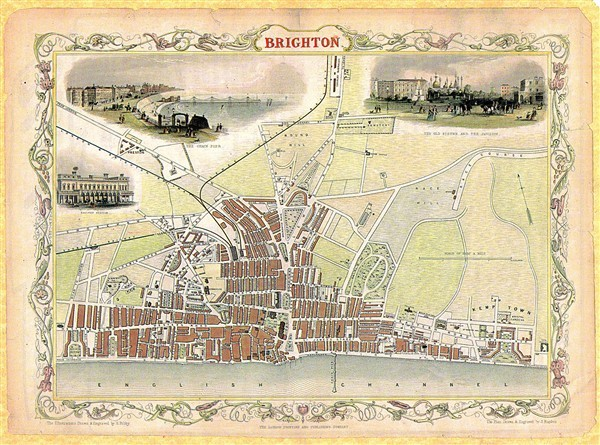 Brighton 1850 | Image reproduced with permission from Brighton History Centre