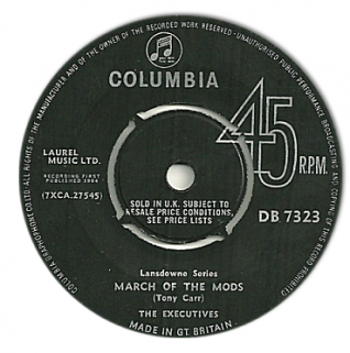 March of the Mods - released in 1964   From the private collection of Jennifer Drury
