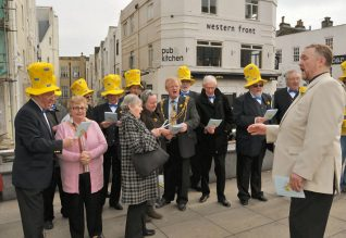 The Mayor and Mayoress join in the singing | Photo by Tony Mould